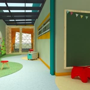 espaço para entretenimento infantil