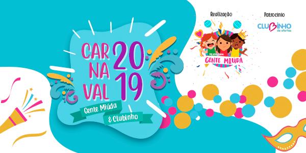 banner com informações sobre o bloco de carnaval