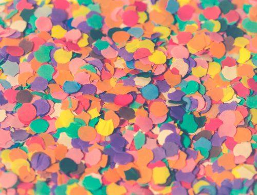 confetes de carnaval