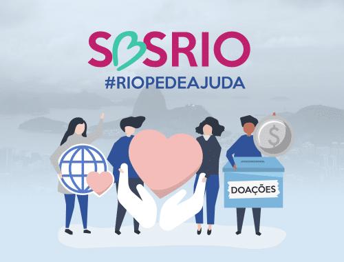 desenho com pessoas e corações em apoio ao Rio de Janeiro