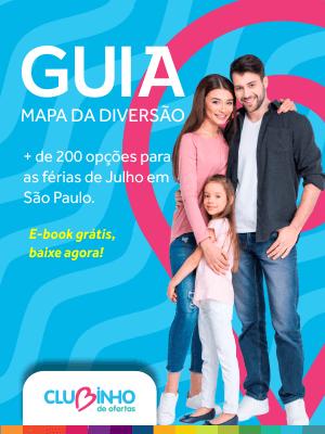 Guia mapa da diversão. Mais de 200 opções para as férias de julho em São Paulo.