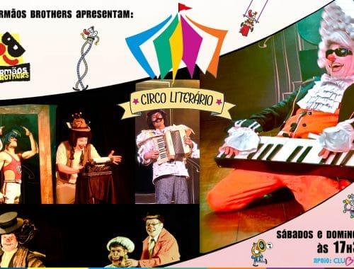 banner de anúncio circo literário