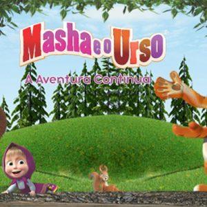 Masha e o Urso banner de divulgação