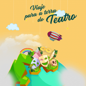 banner de terra do teatro no Rio de Janeiro